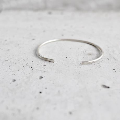 Silver thin bangle