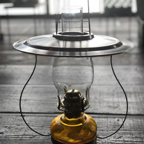レトロ吊りランプ アンバー油壺 7分芯