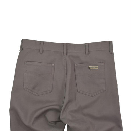 """USED """"70'S SPORT ABOUTS by BIG YANK"""" POLY FLARE PANTS"""