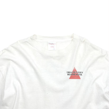 """USED """"90'S TRI-COUNTIES BLOOD BANK"""" T-SHIRT"""