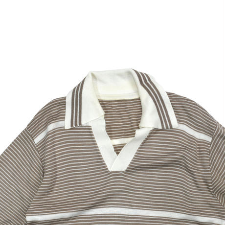 USED KNIT POLO TOP