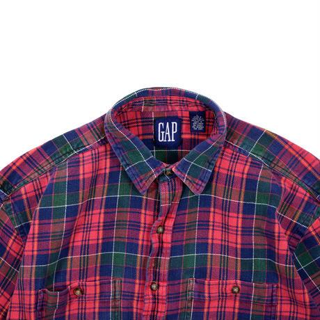 "USED ""GAP"" HEAVY FLANNEL CHECK SHIRTS"