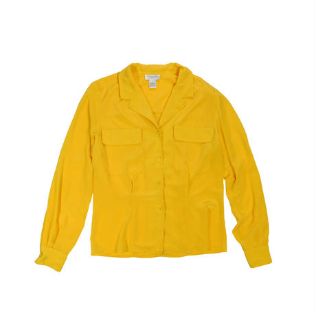 "LADIES USED ""CHRISTIAN DIOR"" OPEN COLLAR SHIRT"