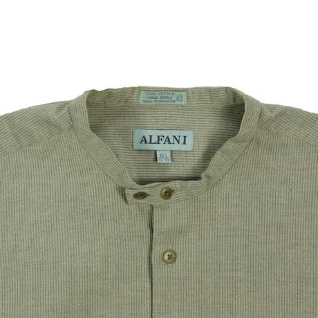"USED ""ALFANI"" SINGLE NEEDLE BAND COLLER SHIRT"