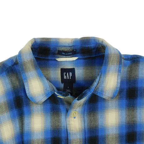 "USED ""GAP"" FLANNEL CHECK SHIRT"