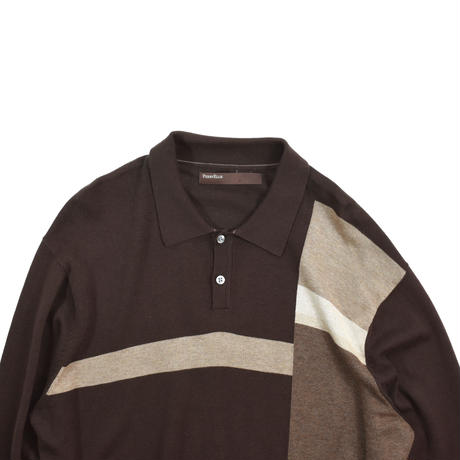 """USED """"PERRY ELLIS"""" PATTERN KNIT POLO L/S"""