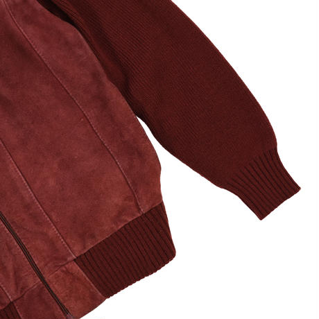 """USED """"70-80'S CORONET CASUALS"""" KNIT SUEDE JACKET"""