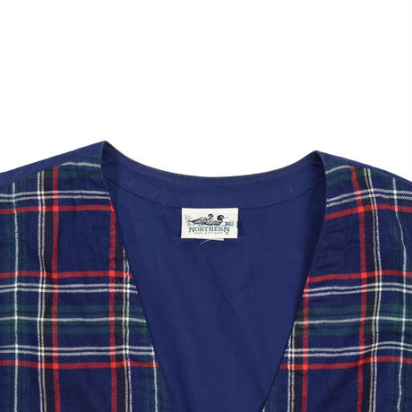 """USED """"NORTHERN REFLECTIONS"""" COTTON PLAID VEST"""