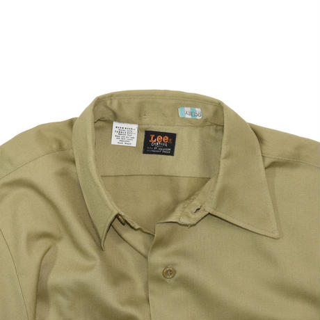 "USED ""60-70'S LEE"" CHETOPA TWILL WORK SHITS"