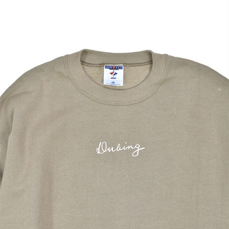 "NEW ""DUBING!!"" DRAW SET-IN SLEEVE SWEAT"