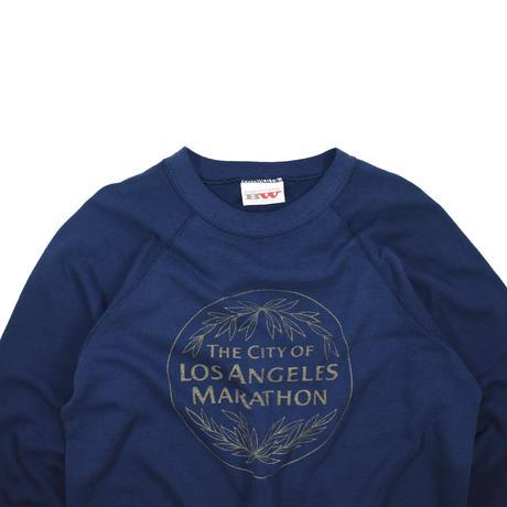 "USED ""THE CITY OF LOS ANGELES MARATHON"" RAGLAN SWEAT"