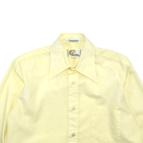 """USED """"70'S CAVALIER"""" SOLID COLOR SHIRT"""