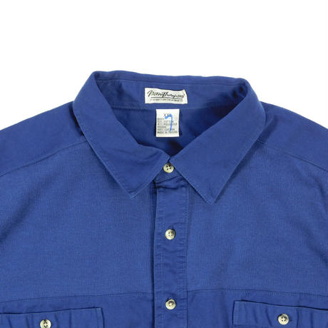 "USED ""NORM THOMPSON"" COTTON SWITCH WOVEN POLO SHIRT"