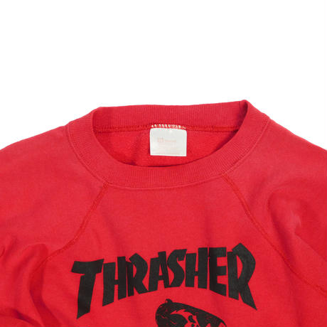 "LAIDES USED ""EARLY90'S THRASHER"" PUSHEAD RAGLAN SWEAT"