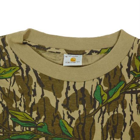 "USED ""90'S US CARHARTT"" REAL TREE CAMO L/S T-shirt"
