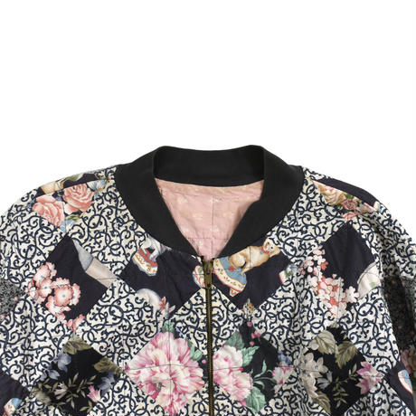 USED HAND MADE PATTERN BLOUSON