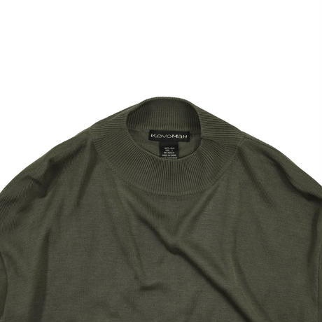 "USED ""KEVOMAN"" MOCK NECK SILK KNIT"