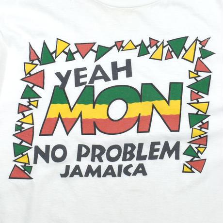 "USED ""YEAH MON NO PROBLEM JAMAICA"" T-SHIRT"