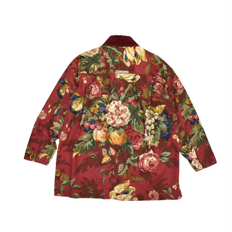 """USED """"SMITH & HAWKEN"""" FLORAL COVERALL"""