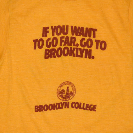 "USED ""80'S BROOKLYN COLLEGE"" T-shirt"