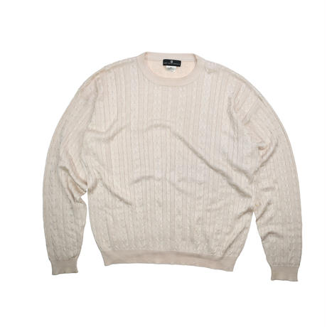 "USED ""SAKS FIFTH AVENUE"" CABLE SILK KNIT"