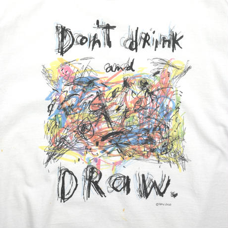 """USED """"FRED BABB / DON'T DRINK AND DRAW"""" T-shirt"""