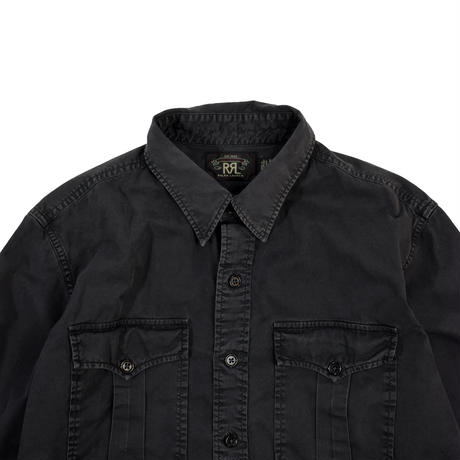 "USED ""RRL"" OVER DYE UTILITY SHIRTS"