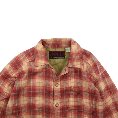 """USED """"STORM"""" FLANNEL SHIRTS JACKET"""