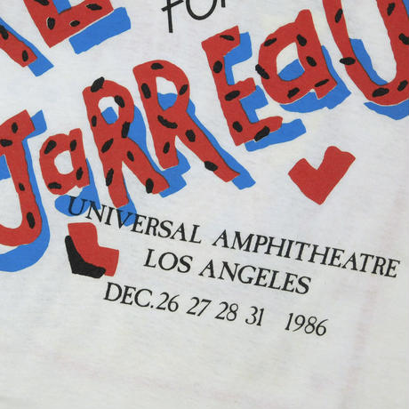 "USED ""AL JARREAU / 1986 CONCERT IS FOR LOVERS"" T-shirts"