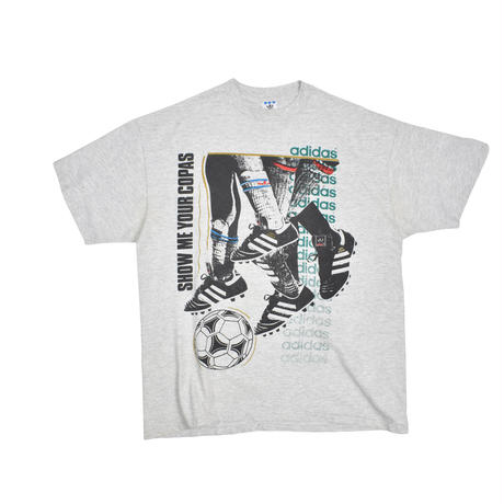 "USED ""80-90'S ADIDAS / SHOW ME YOUR COPAS"" T-shirt"