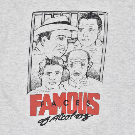 "USED ""FAMOUS FACES OF ALCATRAZ""TEE"