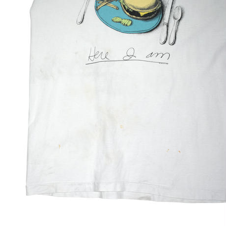 "USED ""90'S LYLE LOVETT / HERE I AM"" CUT OFF T-shirt"