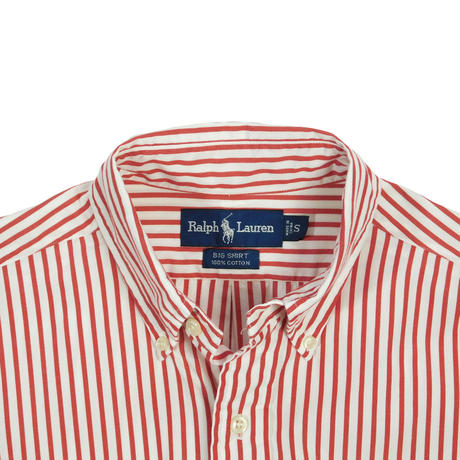 "USED ""RALPH LAUREN"" STRIPE BIG SHIRT"
