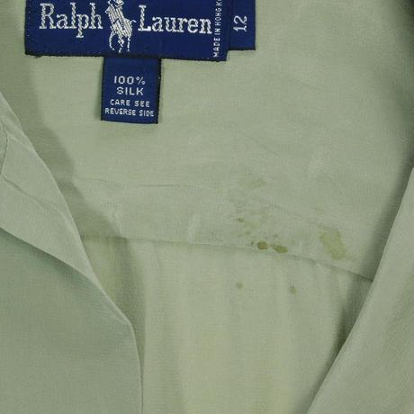 """USED """"RALPH LAUREN"""" OPEN COLLAR SILK SHIRT"""