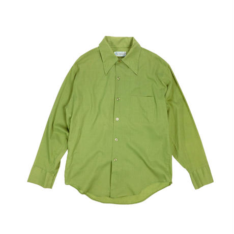 "USED ""70'S K-MART"" NON IRON SOLID COLOR SHIRTS"
