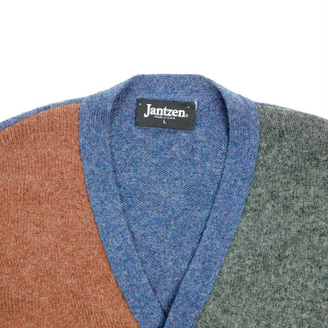 "USED ""JANTZEN"" MULTI COLOR CARDIGAN"