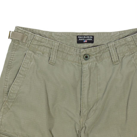 """USED """"POLO JEANS"""" COTTON RIP CARGO SHORTS"""