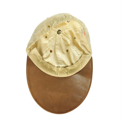 USED LEATHER LONG BILL CAP