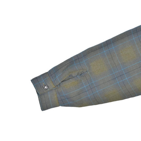 """USED """"THE ESSLEY SHIRT"""" OPEN COLLER PLAID SHIRT"""