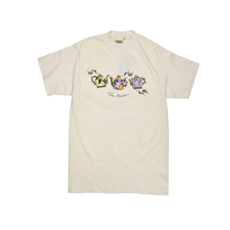 """MAZE / TEA TIME"" COTTON T-SHIRTS"