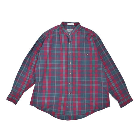 """USED """"MEMBERS ONLY"""" PLAID BAND COLLER SHIRT"""