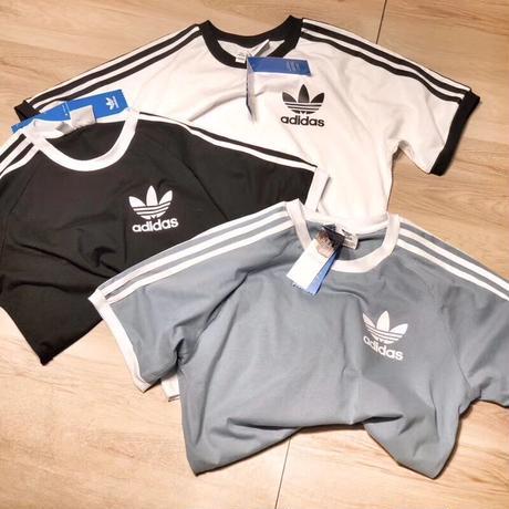 人気新作★アディダス adidas スウェットTシャツ 半袖 3本ラインTシャツ 男女兼用