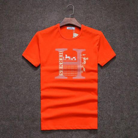 3色選択!Hermes エルメス人気プリント半袖Tシャツ トップス  半袖  男女兼用