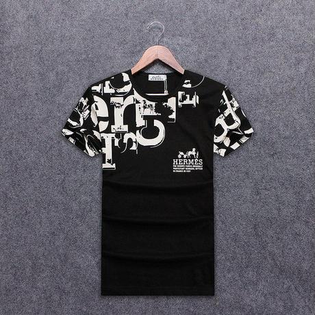 人気勧め美品★Hermes エルメス 高品質プリント半袖Tシャツ トップス  半袖  男女兼用
