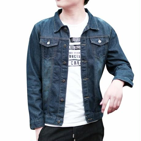 デニムジャケット Gジャン メンズ ジージャン ダメージ 加工 長袖 大きいサイズ