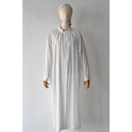 18-AW004C COTTON TRIPLE WASH  GATHERS BLOUSE  DRESS