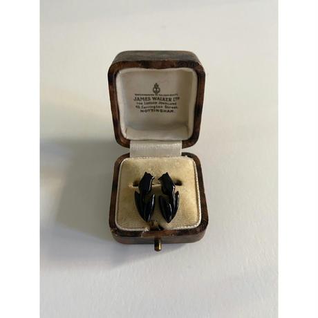 N-146 BUFFALO HORN   TULIP EARRINGS