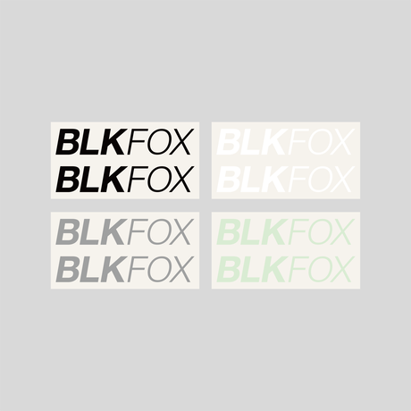 BLKFOX CUTTING STICKER - 06