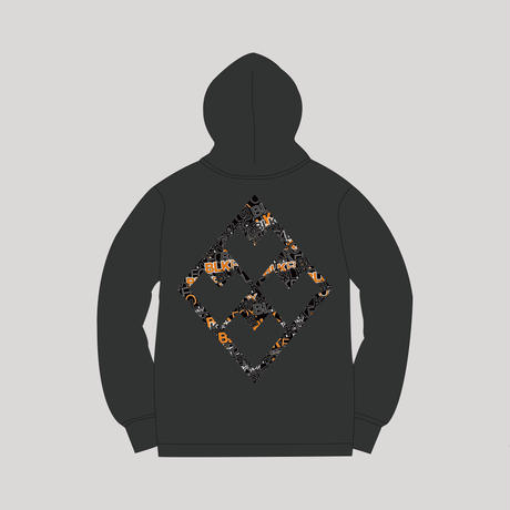【予約販売】BLKFOX HOODIES 04 / BFLOGO - ORANGE