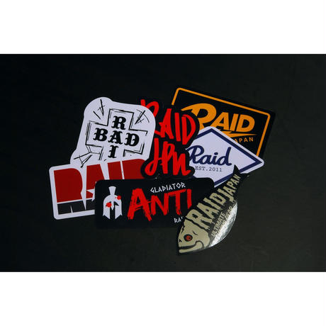 RAID JAPAN 7 STICKERS PACK (A set)